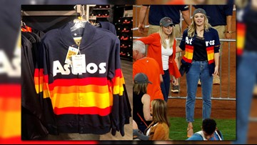 wholesale dealer 43f88 4f798 Vintage-style Astros sweater for sale at team store but it ...