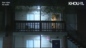Raw video: Child shot at southwest Houston apartment complex
