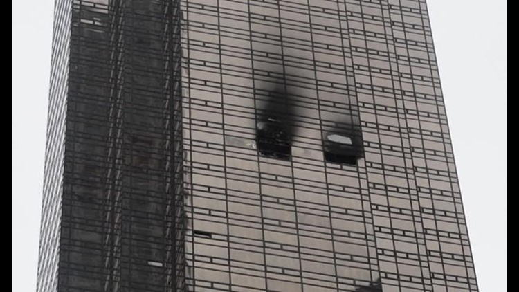 Firefighters battling blaze at Trump Tower