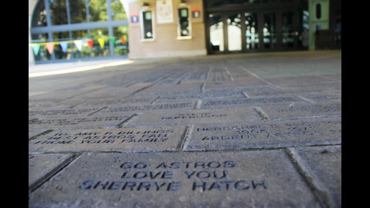 Each brick can be personalized with an engraved name or personal message which will then be placed in a specially-designated space at Minute Maid Park.