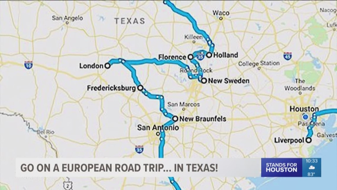 Map Of Texas Over Europe.Go On A European Road Trip In Texas