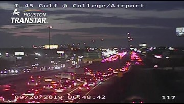 Gulf Freeway southbound re-opened after fatal pedestrian accident