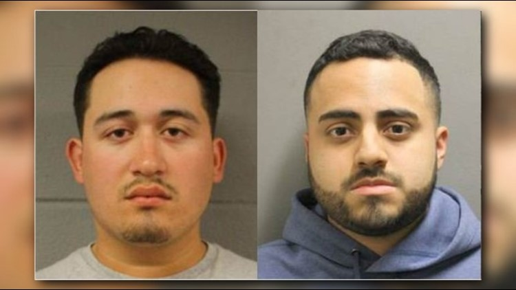 Two Houston men face charges of racing on a highway after being arrested by Precinct 5 deputies.