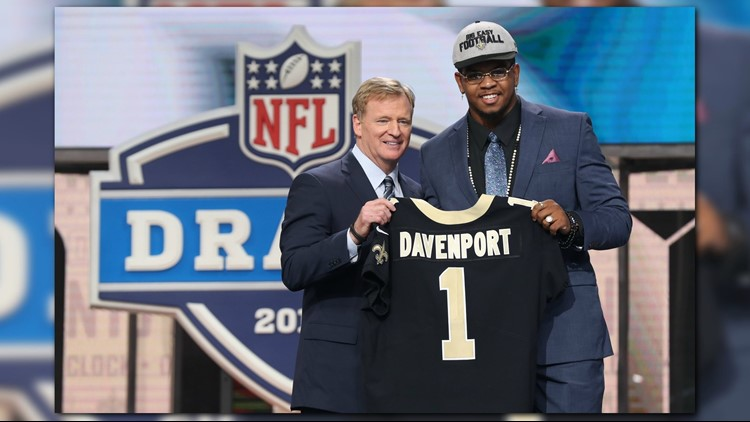 Saints draft Marcus Davenport after trading up in first round