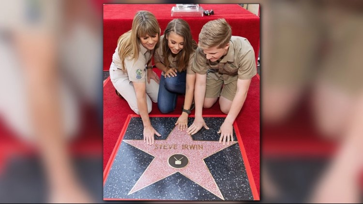 Steve Irwin Receives Posthumous Star on Hollywood Walk of Fame