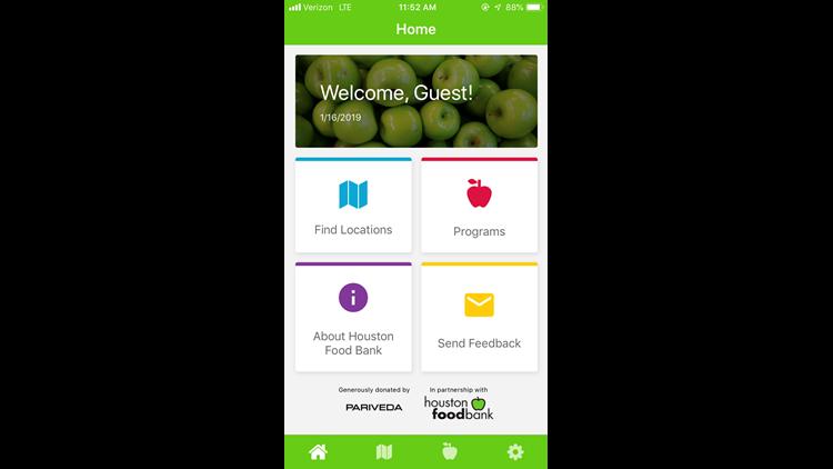 Houston Food Bank app