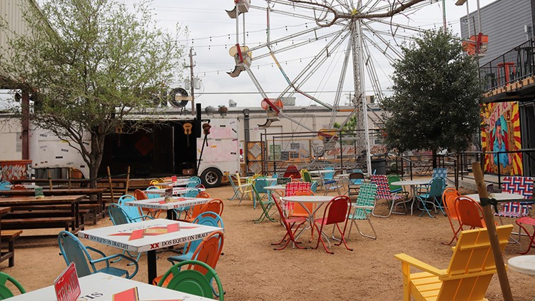 The Big Outdoor Space Features A Ferris Wheel, Tree Houses And Airstreams.  Along With