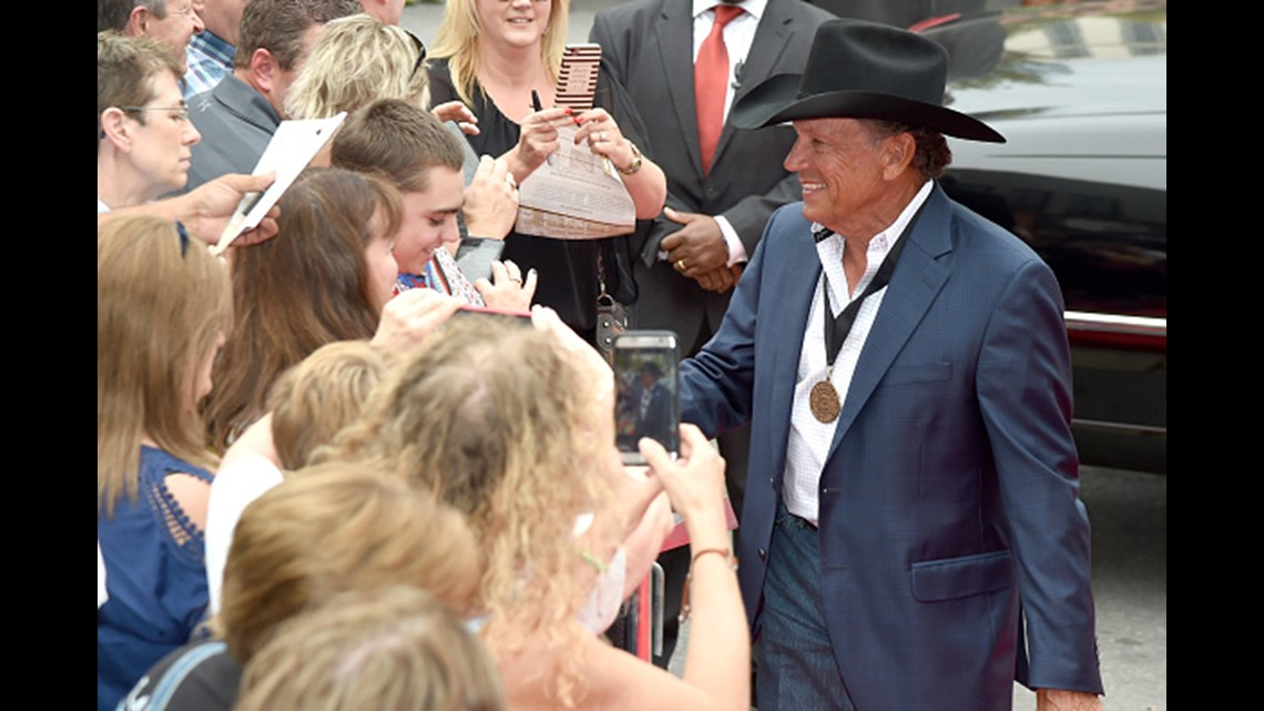 9da9f9b0 NASHVILLE, TN - OCTOBER 22: George Strait attends Medallion Ceremony to  celebrate 2017 hall of fame inductees Alan Jackson, Jerry Reed And Don  Schlitz at ...