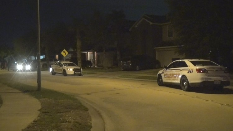 Two juveniles were arrested in connection with a drive-by shooting that left two other teens wounded in west Harris County Tuesday night.