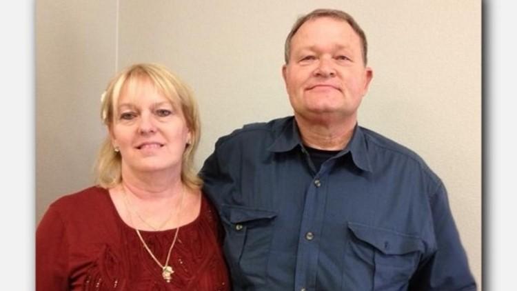 Cynthia Tisdale with her husband, William. Cynthia was a substitute teacherat Santa Fe High School.