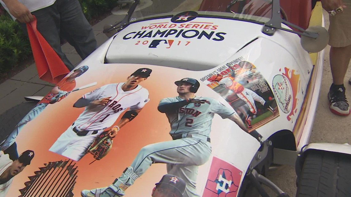 Pulling up to the game in style | Check out these custom Astros rides at the World Series