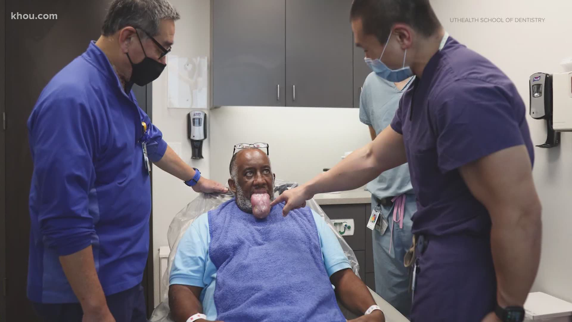 Florida COVID patient with enlarged tongue treated in Houston | khou.com