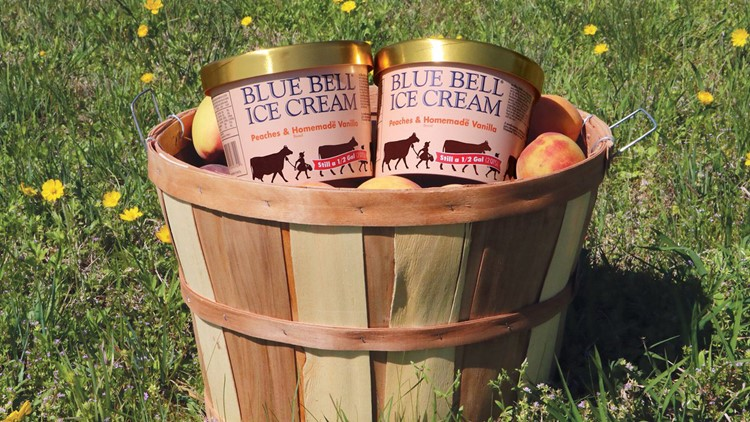 """The Texas-based company describes the flavor as a """"mouth-watering combination of juicy, ripe peaches, and our famous Homemade Vanilla Ice Cream."""""""