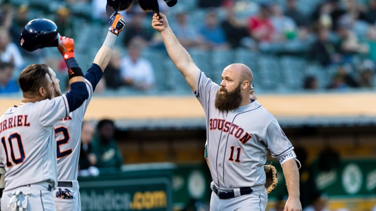 With the two best games of his career coming on consecutive days, designated hitter Evan Gattis has quickly transformed into the Astros' hottest hitter — and their current good luck charm.