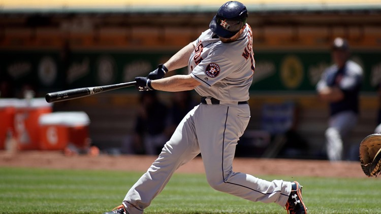 Brian McCann homered for the first time in nearly a month. Carlos Correa, Jose Altuve and Josh Reddick were among five players with two hits apiece as Houston completed the three-game sweep.