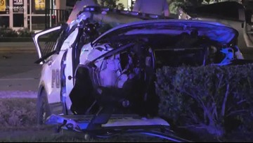 League City police officer hospitalized after crashing into Corvette