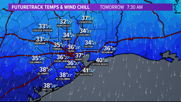 Timeline: Strong cold front moves into Houston tonight