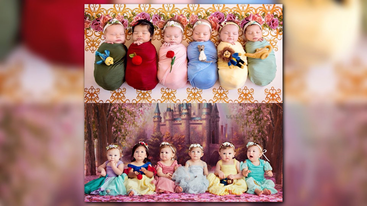 One day, these six little girls will be able to say they were princesses -- and they have precious photos to prove it.