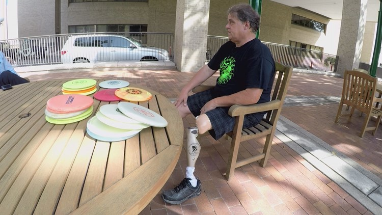 A man who has spent over two decades teaching disc golf to kids with disabilities in Dallas is heartbroken after a thief stole the equipment he uses to teach the sport from his car.