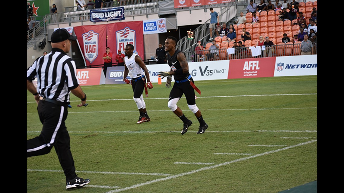 Amateurs Took On The Professionals In The American Flag Football Ultimate Final At Bbva Compass Stadium On Thursday July 19 2018