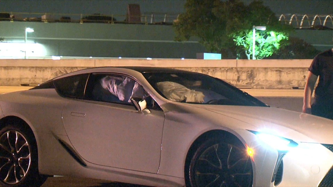 Photos: High End Lexus Sports Car, Motorcycle Involved In Collision Along  Southwest Freeway   Khou.com