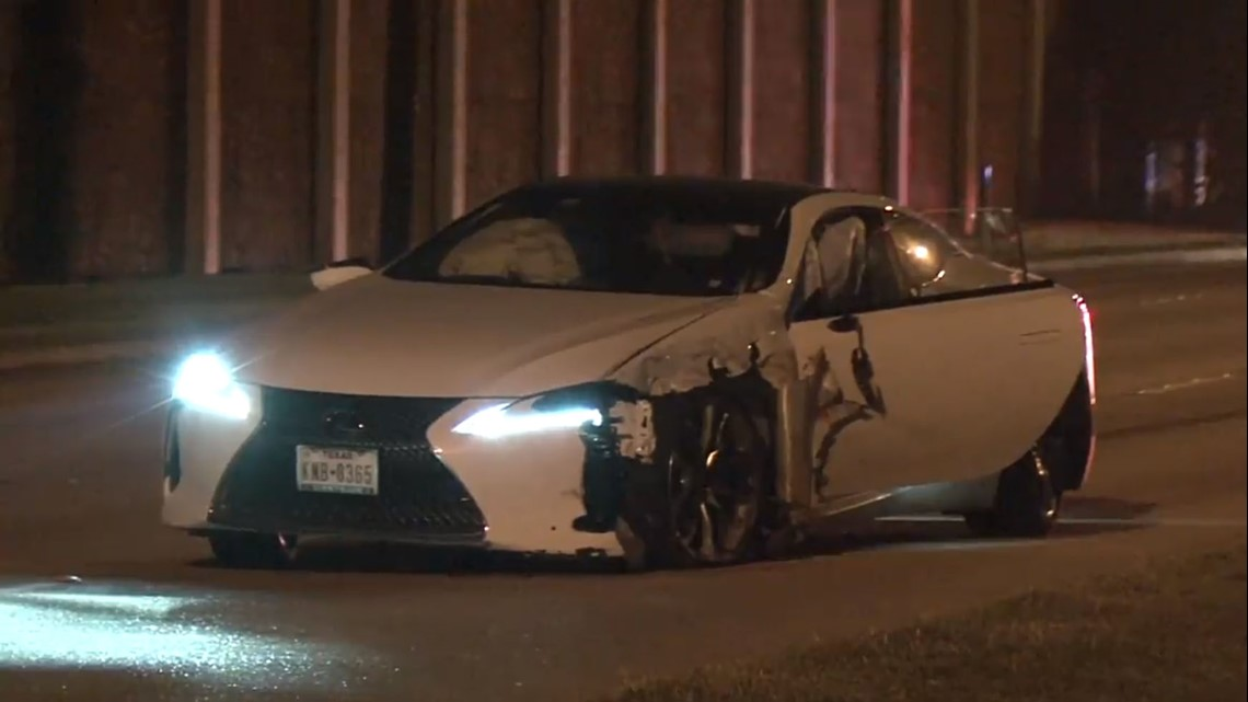 Photos High End Lexus Sports Car Motorcycle Involved In Collision Khou Com