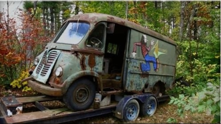 """The hosts of History Channel's """"American Pickers"""" say the van had spent years in the woods of a small Massachusetts town after being abandoned in the 1970s."""