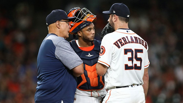 Justin Verlander (11-7) was ejected for arguing a balk call after setting a season high for runs allowed. He failed hard in his bid for his 200th career victory.