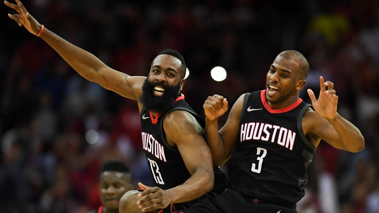 Houston opens the regular season Oct. 17 at home against the New Orleans Pelicans.