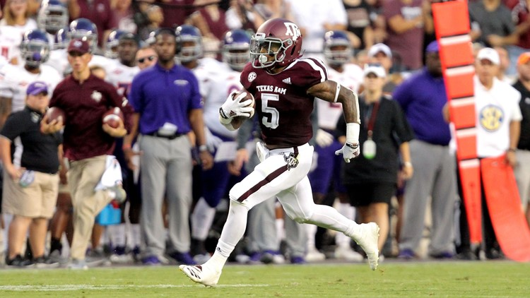 Williams has 240 yards rushing as A&M routs Northwestern St.