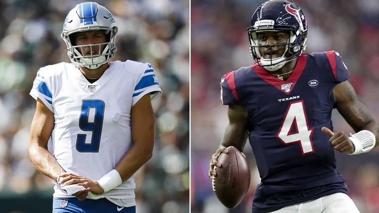 Texans vs. Lions, Washington at Dallas on the NFL menu for Thanksgiving