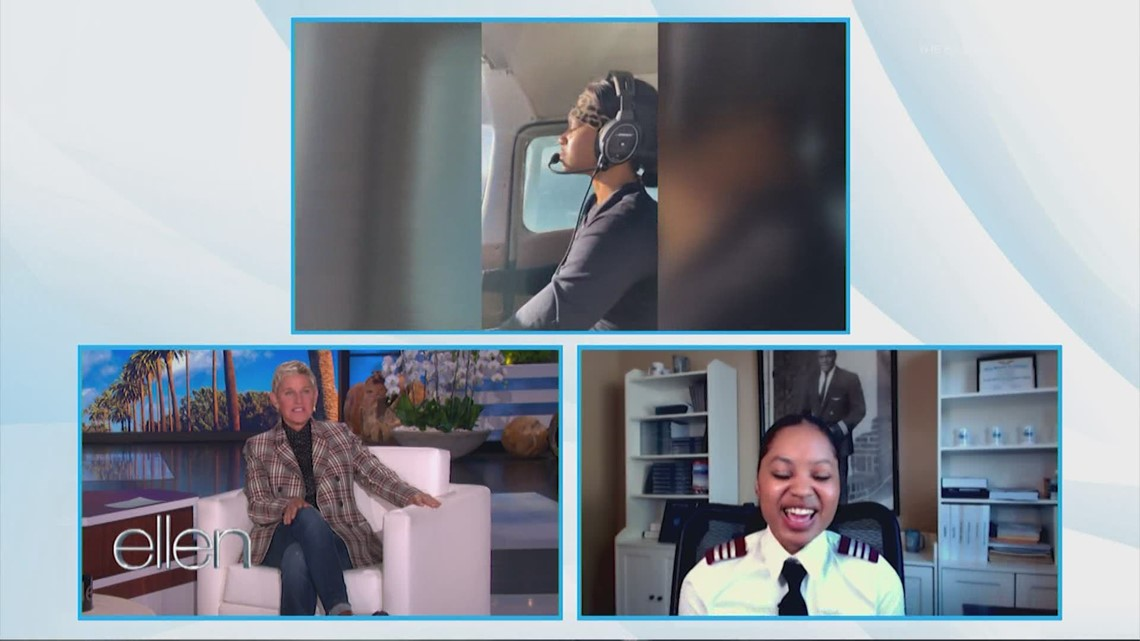 Young pilot who's breaking barriers in the cockpit shares her story on 'Ellen'