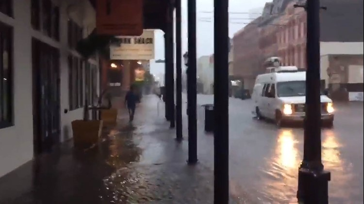 Heavy Rains Bring Street Flooding To Galveston S The
