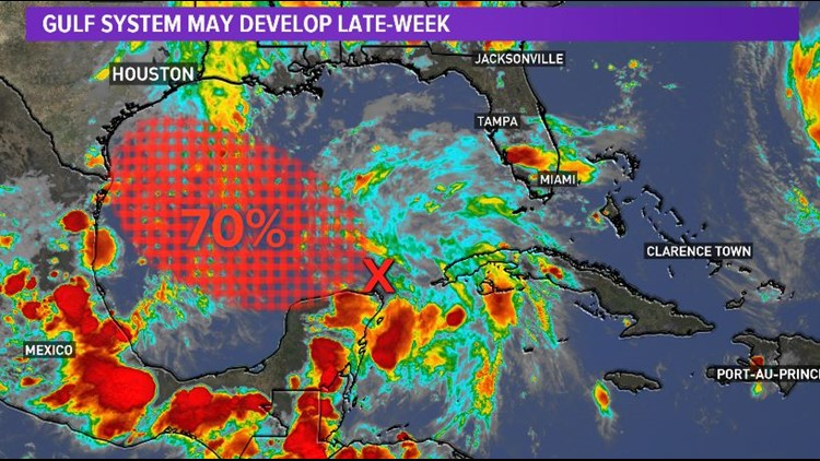 David's Blog: Latest guidance shows the heaviest rain on the south and central Texas coast. This one has a chance to become 'Joyce.'