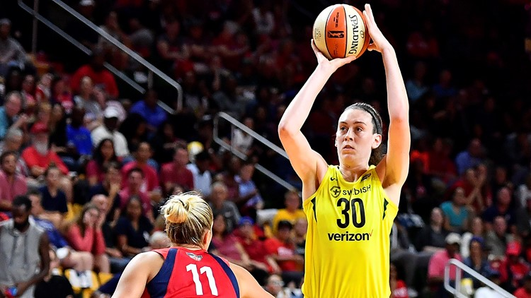 Stewart was the league MVP and was selected the Finals MVP after averaging 25.6 points in the three games. She scored 17 points in the first half as the Storm raced to a 47-30 lead.