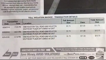 San Antonio-area woman fined repeatedly for someone else's toll violations