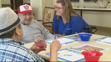 Art therapy helps trigger memories for Alzheimer's patients