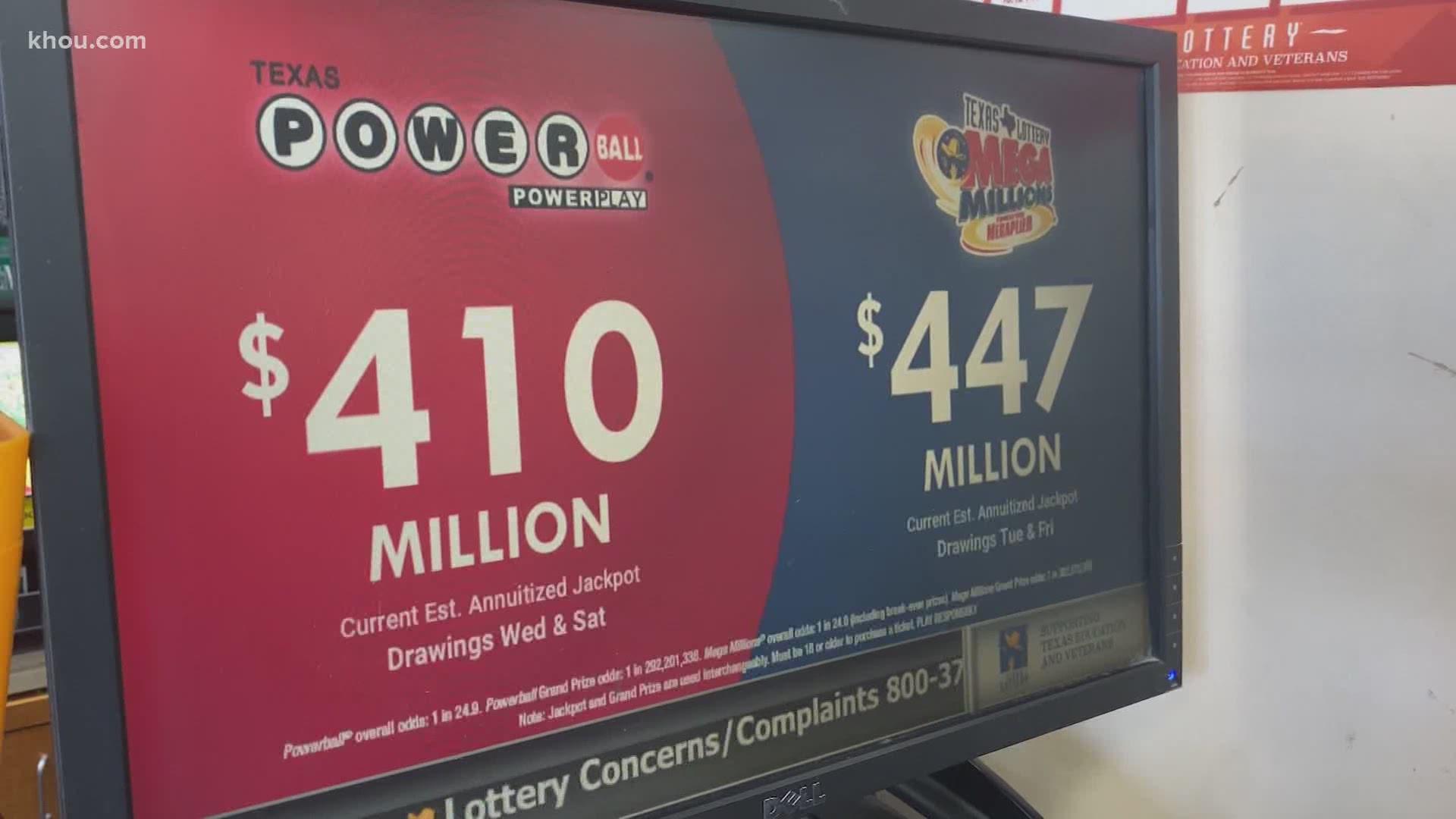 Powerball, Mega Millions jackpots over $400 million | khou.com