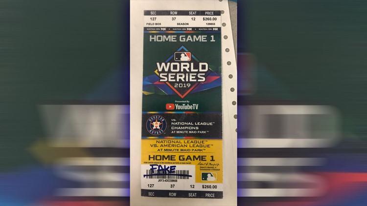 world series fake tickets