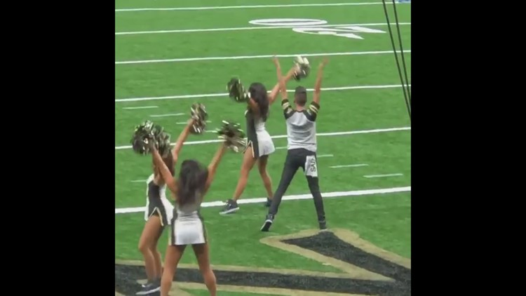 Jesse Hernandez's first performance with the Saintsations