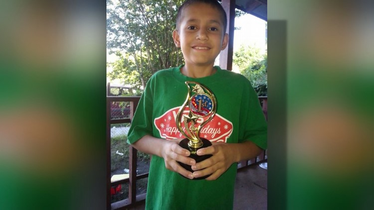 Josue Flores, 11, was attacked and stabbed to death on his way home from school in north Houston.