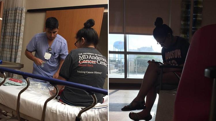 Sarah Salazar at eighth surgery