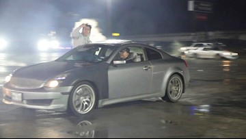 Drivers caught on video doing donuts in Houston parking lot