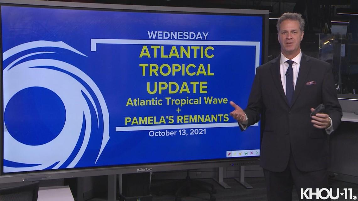 Tropical update: Atlantic tropical wave and remnants of Pamela