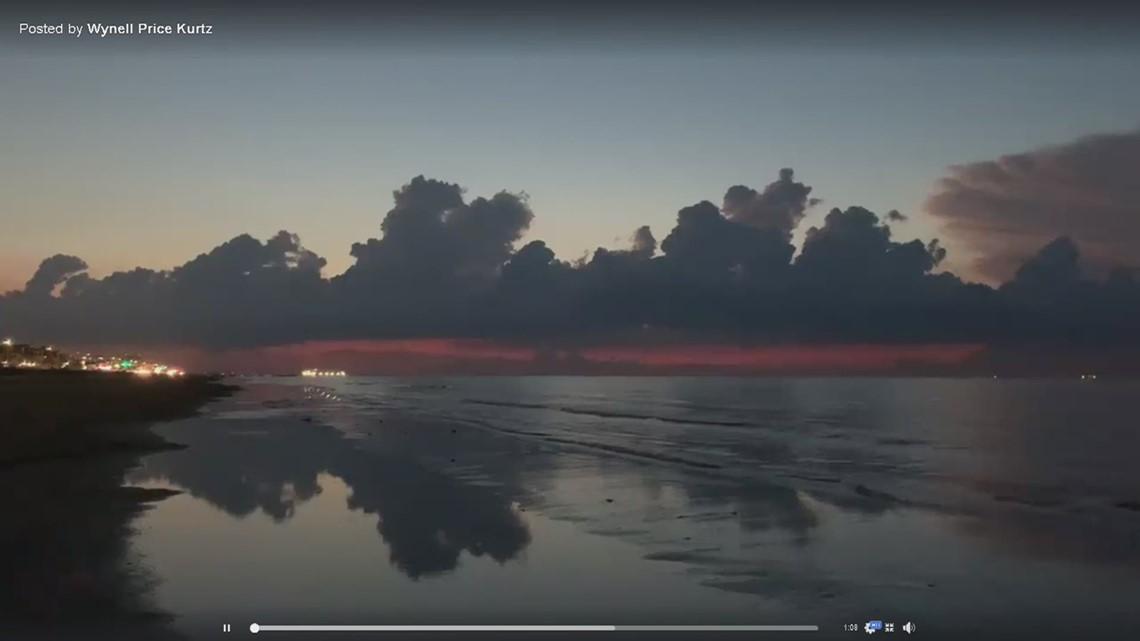 Moment of Zen: lovely sunrise lightning show in Galveston