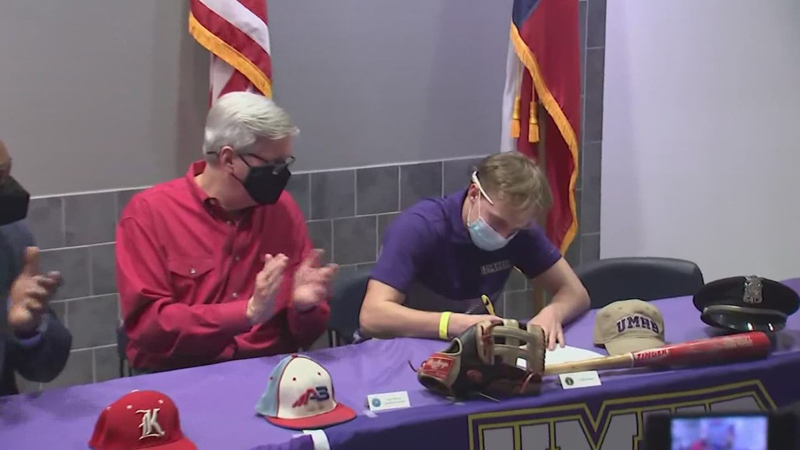 Son of fallen Houston police officer signs letter of intent to play baseball for Mary Hardin-Baylor