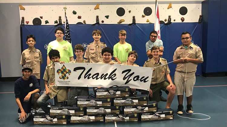 Donations pour in after trailer stolen from special needs Boy Scouts
