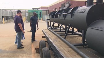 Angleton High School students create new kind of BBQ pit