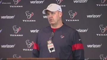 Texans Coach Bill O'Brien reacts after Houston beats Patriots 28-22
