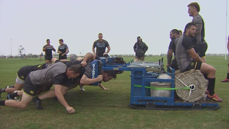 Meet the SaberCats' most reliable teammate: The scrum machine